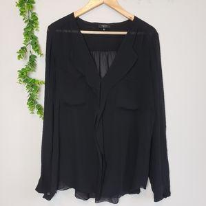 Babaton 100% Silk Sheer Blouse